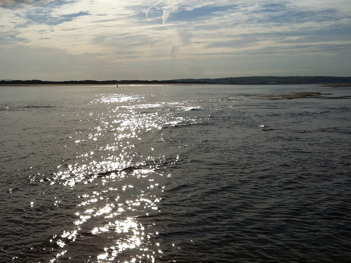 Buoy in ripples